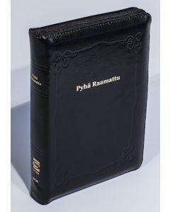 33/38 Keskikokoinen Raamattu musta vetoketju ja reunahakemisto
