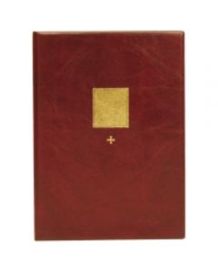 Pieni kirkkokansio punainen A5 rukouksin
