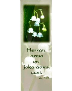 Kirjanmerkki Herran armo on joka päivä uusi