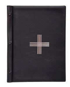 Jumalanpalvelusten kansio A4, musta