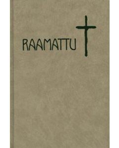 Kovakantinen, isotekstinen Raamattu beige