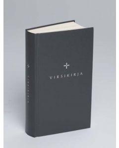 Kirkkovirsikirja kovakantinen tummanharmaa