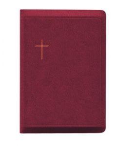 Raamattu Kansalle, keskikokoinen, viininpunainen, vetoketju, reunahakemisto