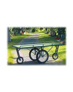 Saattovaunu 2 isoa 2 pientä pyörää - ruohomatto