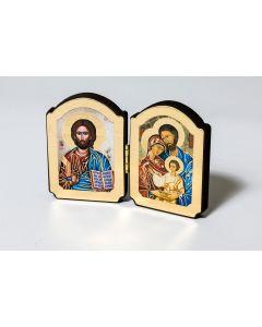 Diptyykki Pyhä perhe ja Jeesus