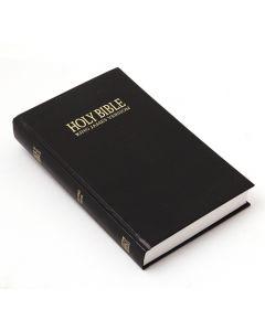Englanti Holy Bible, musta keskikoko- King James Version