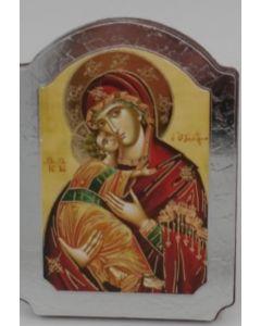 Ikoni kupoli, Maria ja Jeesus 10 x 15 cm hopea