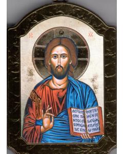 Ikoni kupoli, Kristus Kaikkivaltias 10 x 15 cm kulta