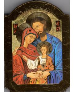 Ikoni kupoli, Pyhä perhe 10 x 15 cm kulta