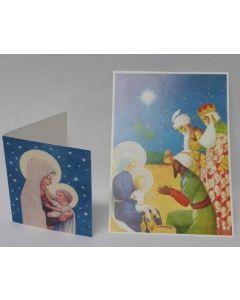 Joulukortti ja pakettikortti 5 + 5 kpl