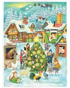 Joulukalenteri no 70122 Joulu tilalla