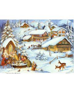 Joulukalenteri no 65 Kylä vuorella