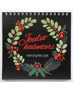 Joulukalenteri-värityskirja