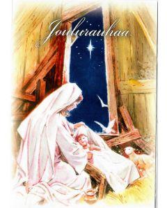Joulukortti Äiti ja lapsi 2-osainen 2 kpl