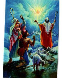 Joulukortti Enkeli ilmestyy paimenille 2-osainen 2 kpl