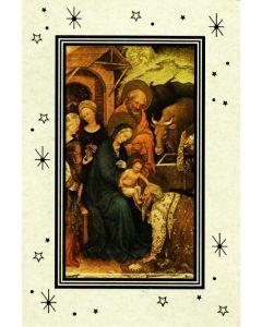 Joulukortti Pyhä perhe ja tietäjät kaksiosainen 5 kpl