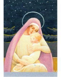 Joulukortti Äiti ja lapsi 5 kpl