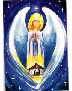 Joulukortti Enkeli ja seimi 2-osainen 2 kpl