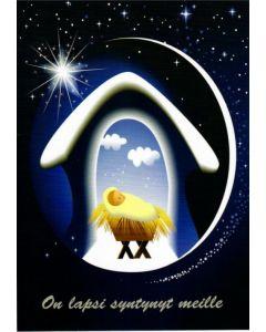Joulukortti Jeesus seimessä 5 kpl