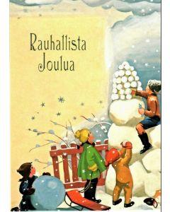 Joulukortti Lapset lumileikeissä 5 kpl