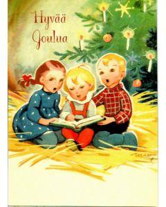 Joulukortti Laulavat lapset 5 kpl