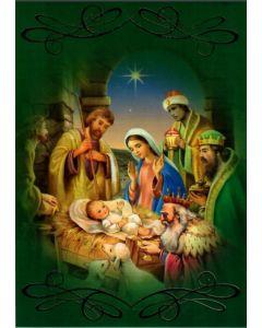 Joulukortti Pyhä perhe ja itämaan tietäjät 5 kpl