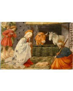 Joulukortti Pyhä perhe tallissa 5 kpl
