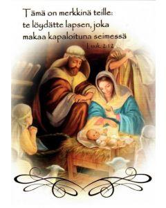 Joulukortti Pyhä perhe 5 kpl