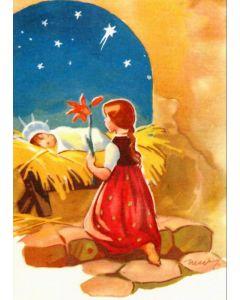 Joulukortti Tyttö ja Jeesus-lapsi 5 kpl