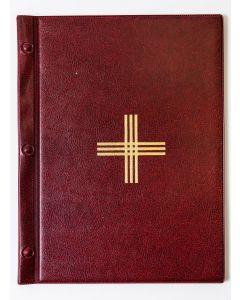 Jumalanpalvelusten kansio A4, punainen