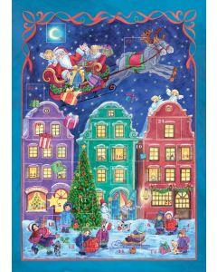 Joulukalenteri no 801 Joulupukki matkaan jo käy