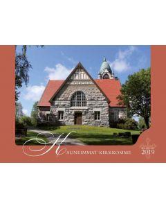 Kauneimmat kirkkomme 2019 seinäkalenteri