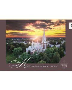 Kauneimmat kirkkomme 2021 seinäkalenteri