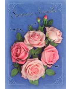 Äitienpäiväkortti isoäidille, 2-os. + kuori