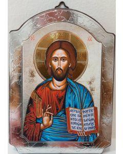Ikoni kupoli, Kristus Kaikkivaltias 10 x 15 cm hopea