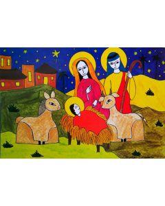 Julkort från El Salvador, 2-sidiga