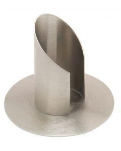 Viistopäinen kynttilänjalka 3,5 cm kynttilöille - edestä avonainen