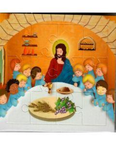 Minipalapeli - Jeesus ja pienet opetuslapset aterialla