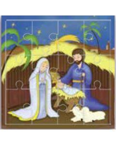 Minipalapeli - Betlehemin joulu, Maria, Jeesus, Joosef -- PZ12