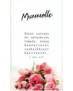 Äitienpäiväkortti Mummolle 2-os. + kuori