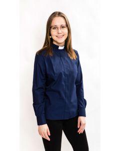 Pitkähihainen tummansininen papinpaita naiselle, Ateljé Solemnis