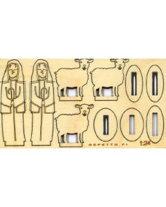 Paimenet ja lampaat - Koottavat seimihahmot