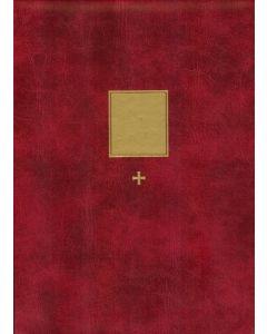 Iso Kirkkokansio punainen A4