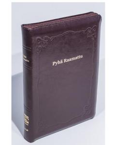 33/38 Isotekstinen Raamattu viininpunainen reunahakemisto vetoketju kultasyrjä R46