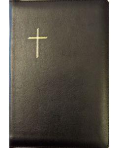 Raamattu Kansalle, keskikokoinen, musta, vetoketju, reunahakemisto