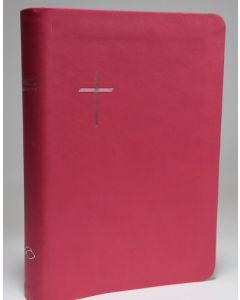Raamattu kansalle, keskikokoinen , pinkki, reunahakemisto