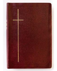 Raamattu keskikokoinen viininpunainen keinonahkakannet R821KH