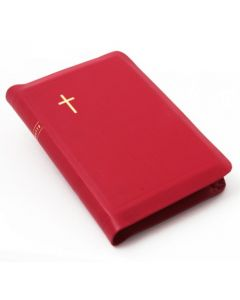 Nahkakantinen keskikokoinen Raamattu, vetoketju ja reunahakemisto