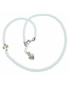 Kaulakoru Ristin suojassa valkoinen