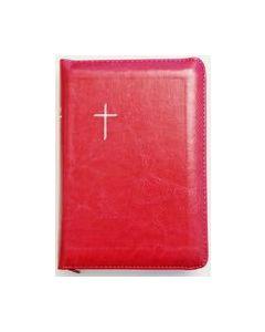 Raamattu Kansalle, pieni, fuksia, vetoketju, reunahakemisto